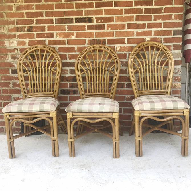 Boho Modern Bamboo Dining Chairs- Set of Four by secondhandstory