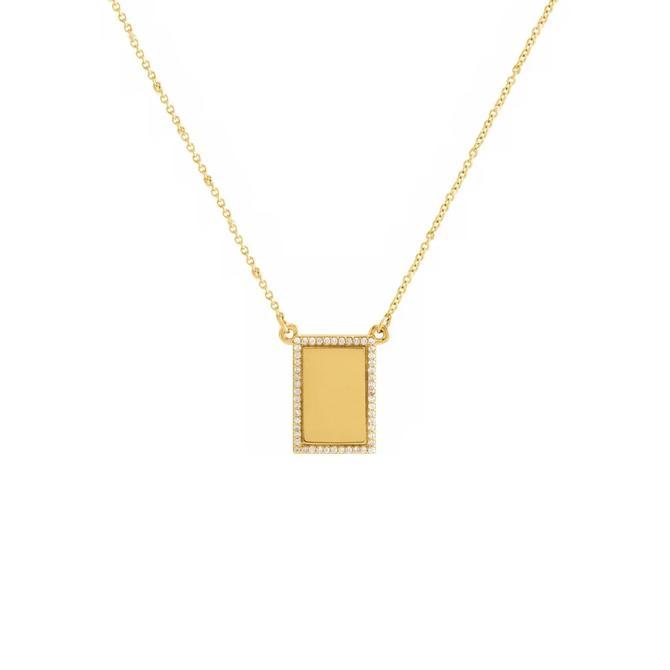 Diamond Tag Necklace