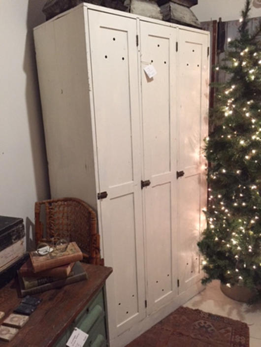 """Painted wooden lockers, 40"""" w x 22"""" d x 76.5"""" t, $395."""