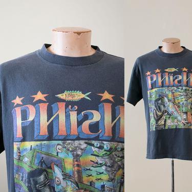 Vintage 1994 Phish Tshirt / Vintage 90s Jam Band Tshirt / 1990s Grunge / 1990s Hippie Tshirt / Phish Band Tee Large / Pollock Phish Tee by milkandice