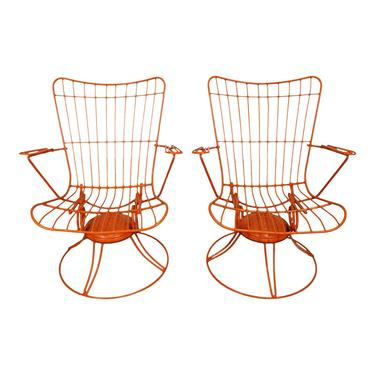 Pair of Mid-Century Modern Homecrest Bottemiller Outdoor Lounge Chairs by AnnexMarketplace