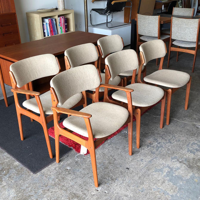 HA-C8467 Set of Six Eric Buck Teak Chairs