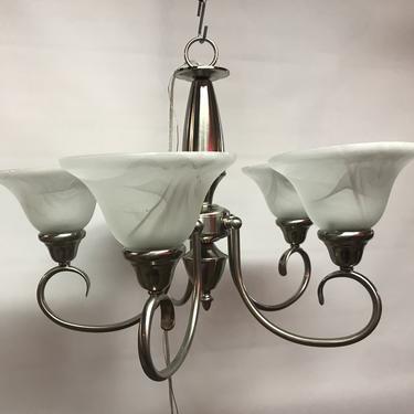 New 5 light satin nickel finish chandelier