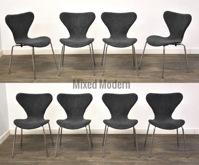 Arne Jacobsen Style Series 7 Dining Chairs - Set of 8 by mixedmodern1