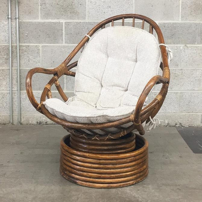 LOCAL PICKUP ONLY ————- Vintage Rattan Chair by RetrospectVintage215