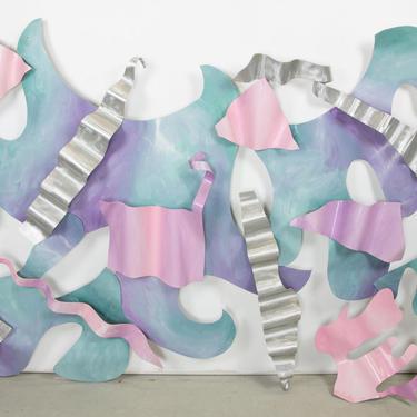 Ribbon Steel Wall Sculpture by Steve Zaluski, 1994