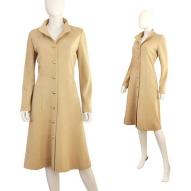 1960s Beige Wool Knitwear Jacket - 1960s Kimberly Knits Beige Coat - 1960s Beige Midi Coat - Vintage Midi Coat - Beige Coat   Size Medium by VeraciousVintageCo