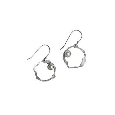 Petite Komu Pearl Earrings, Hook
