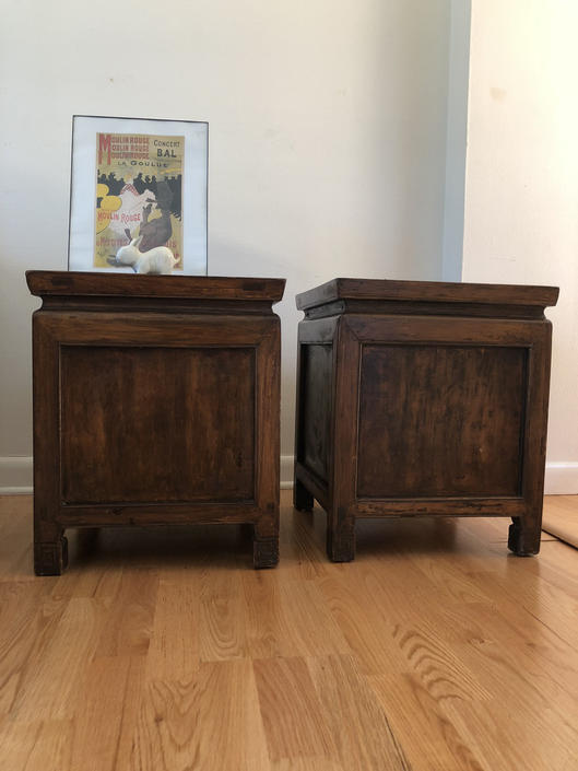 Vintage Mid Century Modern Night Stand Table - Decor not included Tables only by BigWhaleConsignment