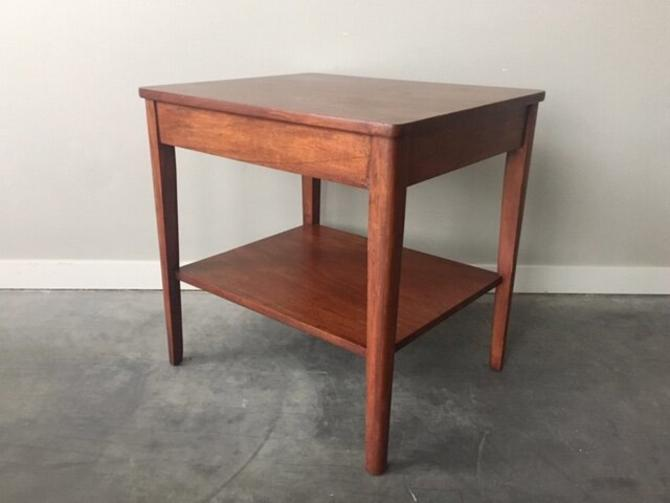 large vintage mid century modern side table.