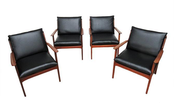 Mid Century Chairs (Four Set) by Ole Wanscher Denmark. by SputnikFurnitureLLC
