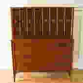 Mid Century Modern Kent Coffey Perspecta Tall Dresser Armoire