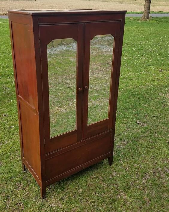 SOLD.                    Double Door Wardrobe, $163.
