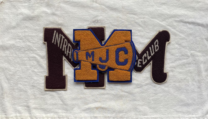 Vintage Morton Junior College Letterman Patches by NorthGroveAntiques