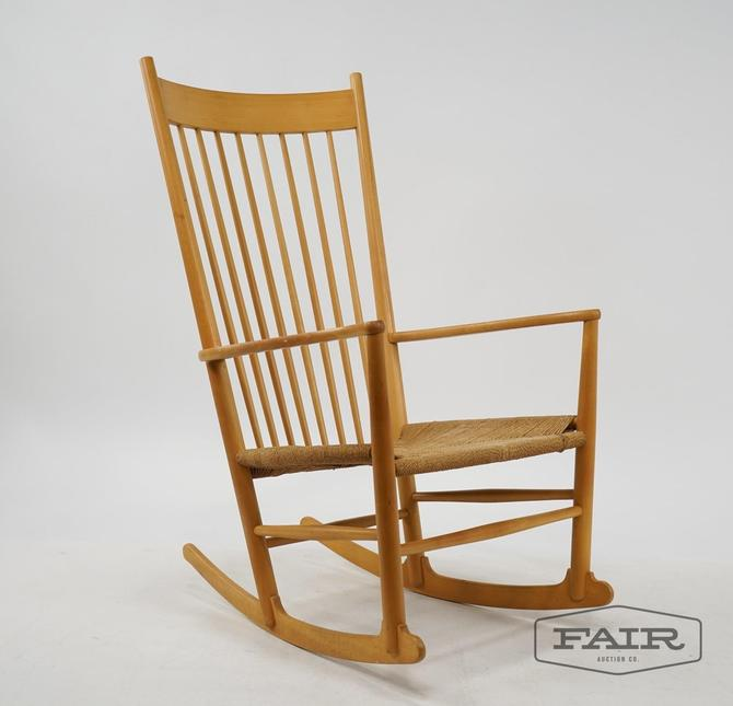 Hans Wegner Model J16 Rocking Chair