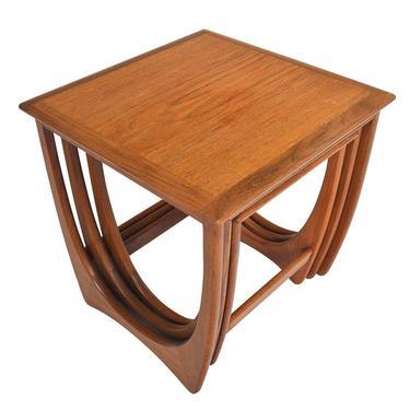 Set of English Modern Mid Century Teak Nesting Tables by G Plan by MidCenturyMobler