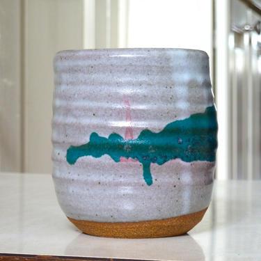 Modernist Wheel Thrown Studio Pottery Handled Beer Stein Mug - Studio Pottery Mug - Signed Ceramics - Modernist Ceramics by FlyTimesVintage