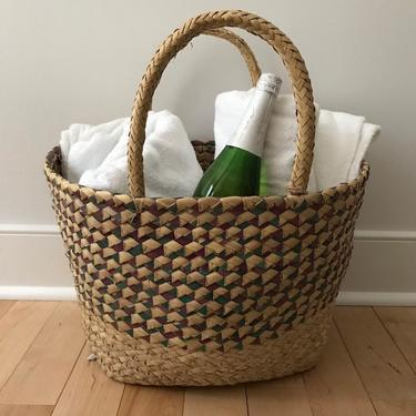 Decorative Basket or Tote with Base by CaminoCollective