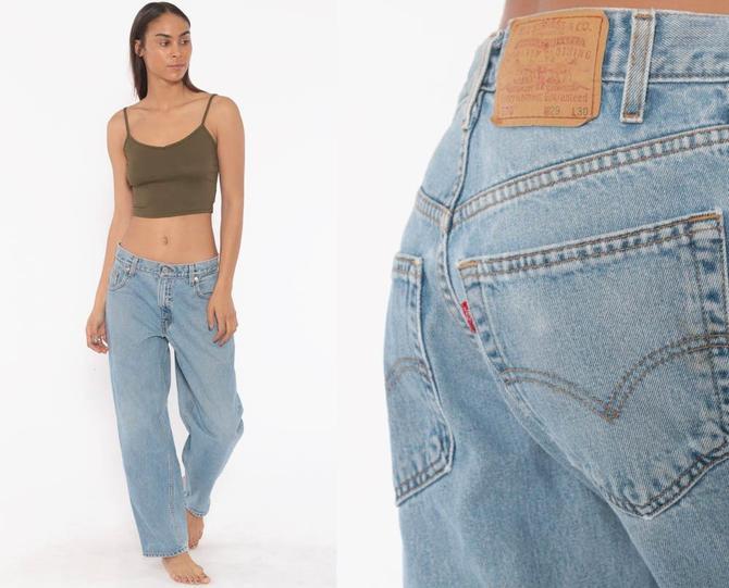 06530103009333 Levis Boyfriend Jeans 29 x 29 -- 570 Mom Jeans High Waist Baggy 90s Jeans