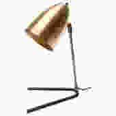 Custom Brass and Black Metal Desk Lamp