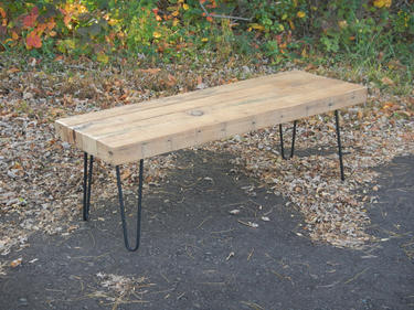 Coffee Table Made With Reclaimed Lumber Hairpin Legs With A Rustic