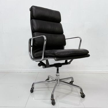 Soft Pad Eames Aluminum Group Office Chair Herman Miller Vitra Brown Leather by AMBIANIC