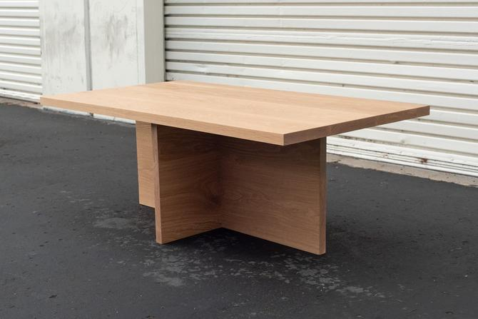 Solid White Oak Coffee Table   Modern End Table by ADCOWoodWorks