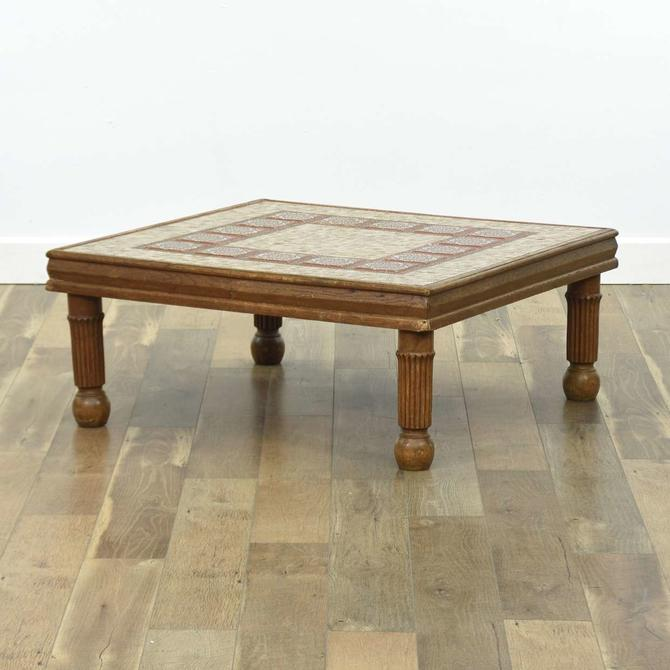 Bohemian Coffee Table W Tile Mosaic Top