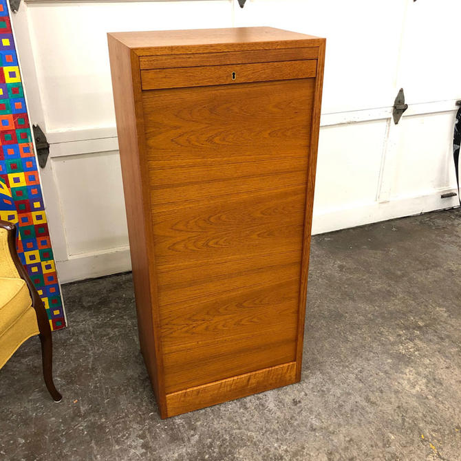HA-C8475 Teak Tambour File Cabinet