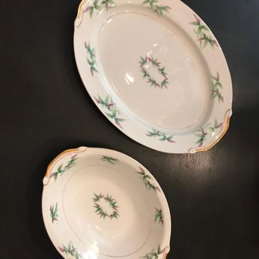 Pretty Harmony House Madarin pattern serving bowl and platter by HolbrookBazaar