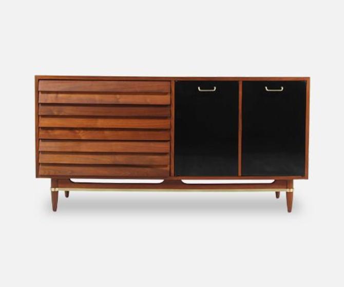 Mid-Century Lacquered & Walnut Dresser by Merton Gershun