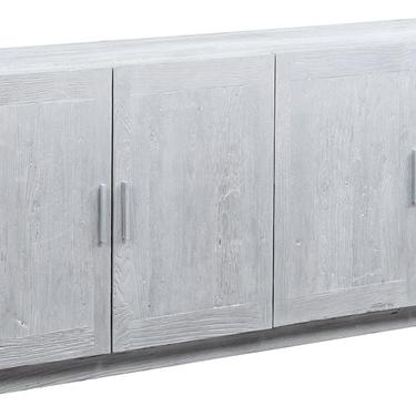 "79"" Whitewashed Reclaimed Wood Sideboard Media Cabinet by Terra Nova Furniture Los Angeles by TerraNovaLA"