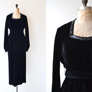 Solemn Oath dress   1930s dress   silk velvet 30s dress by DEARGOLDEN