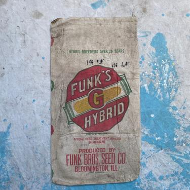 Vintage Double Sided Funks G Hybrids Seed Sack Farm Decor by NorthGroveAntiques