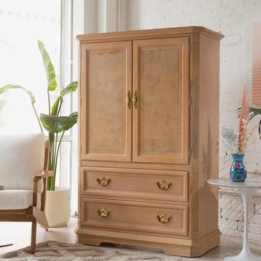 Oak Highboy Armoire Dresser