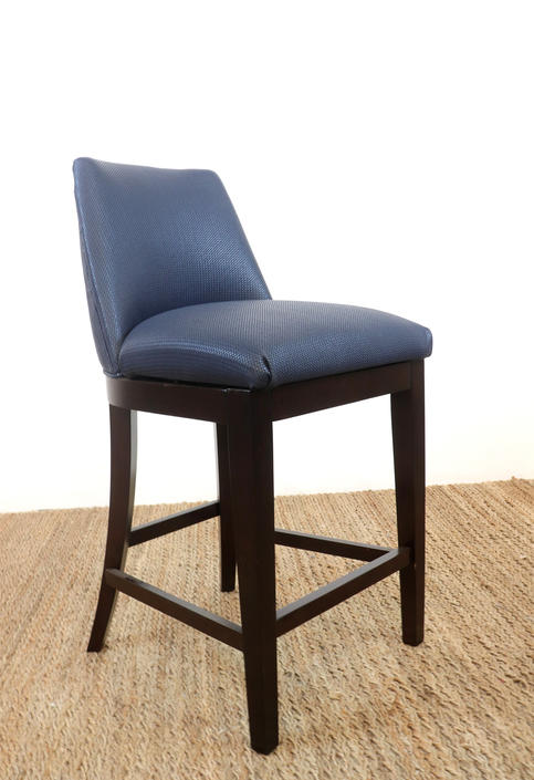 Bernhardt Navy Blue Baily Counter Stools