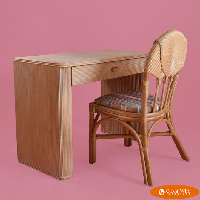 Crespi Pencil Reed Desk With Chair