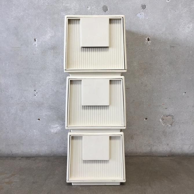 Set of Three Tuf-File Stacking Filing Cabinets by Staco
