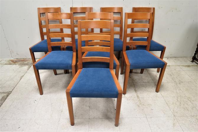 Wooden Dining Chairs   8 English Marks & Spencer Birch Side Chairs by PickeryPlace