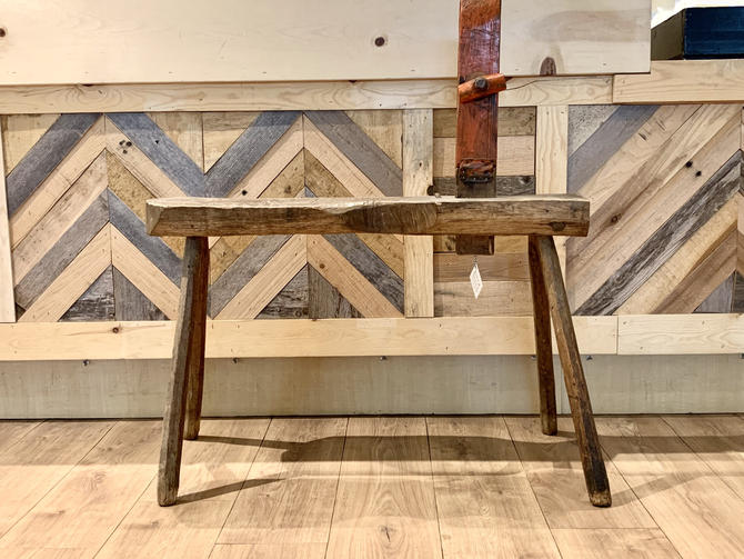 Antique Cobbler's Bench | Handmade Bench | Straddle Bench | Entryway Bench | Kids Bench | Wood Bench | Carved Bench | European Bench by PiccadillyPrairie
