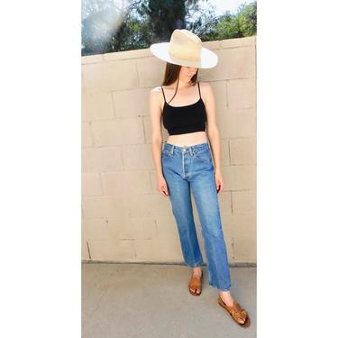 USA Levi's 501xx Jeans // vintage Levis medium light faded wash Levi 80s 90s hippy 29 501 501s // 26 by FenixVintage