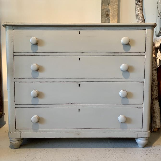 Antique Painted 4-Drawer Dresser