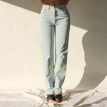 Vintage 80s 90s Levis Light Wash 501 High Waisted Jeans | Made in USA | Size 29x33 | 1980s 1990s LEVIS Boho Light Wash Denim Pants by TheVault1969