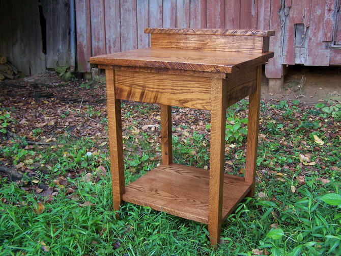 Rustic Bathroom Vanity from Reclaimed Antique Oak by BarnWoodFurniture