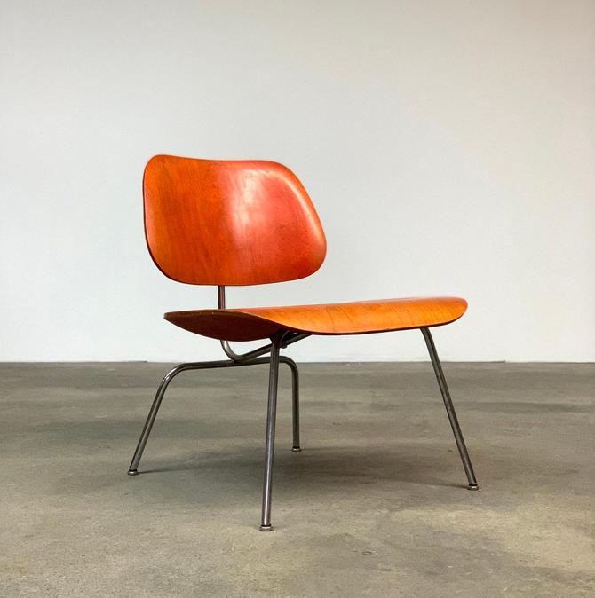 Early Red Aniline Dyed Eames LCM by midcenTree