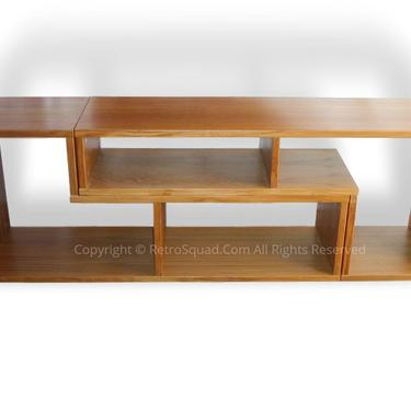 Danish Modern Teak Bookcase / Display Case / Media Audio Cneter/ Credenza - Mid Century Modern MCM Eames by RetroSquad
