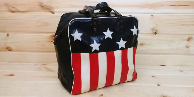 Tiger Brand American Flag Tote/Duffel/Bag by RedsRustyRelics