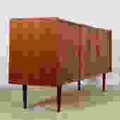 Falster Danish Modern Teak Tambour Door Dresser / Sideboard