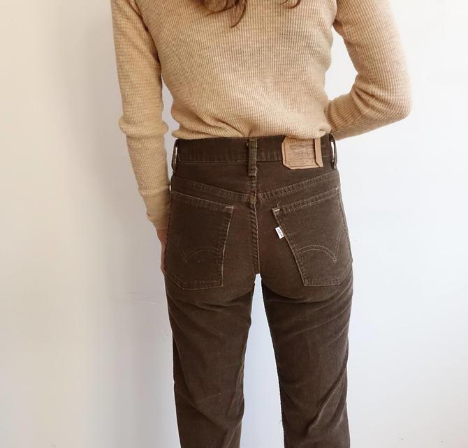 46fe65fc Vintage 80s Brown Levi Corduroys/ Straight Leg High Waisted ...