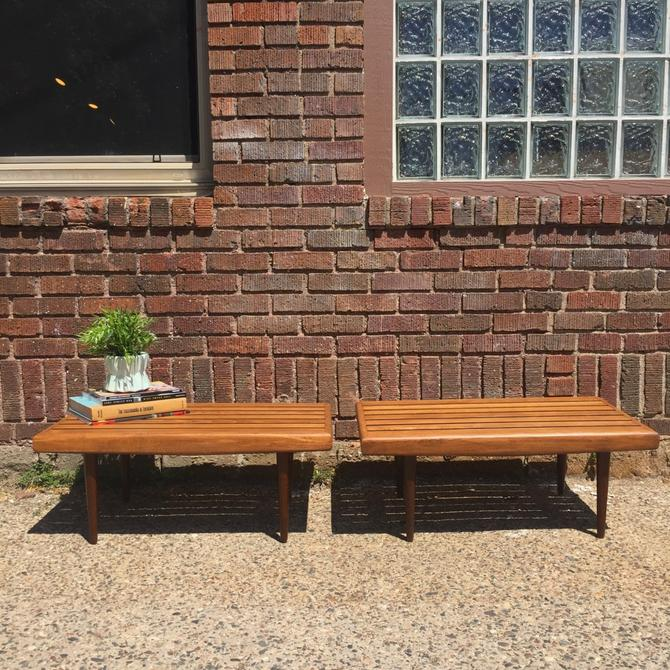 Pair of Refinished Mid-Century Coffee Tables